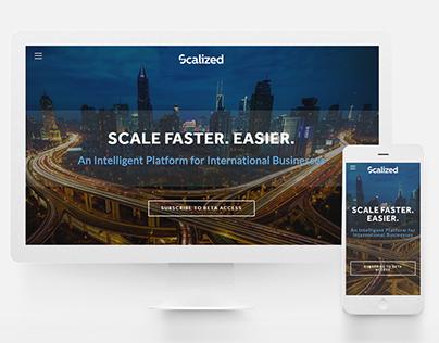 Web | Scalized Landing Page