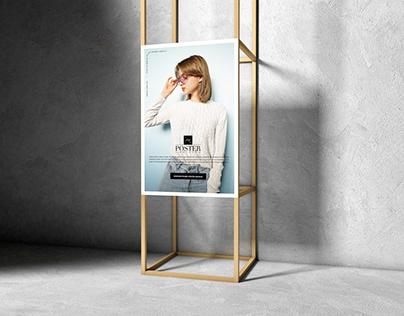 Wooden Frame Poster Mockup Free