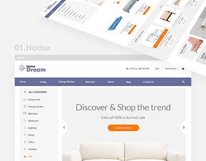 Magento theme furniture - Home Dream