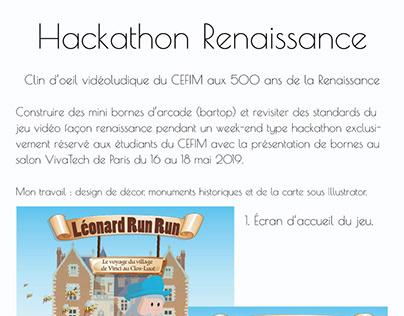 Hackathon Renaissance avec CEFIM, design jeu arcade