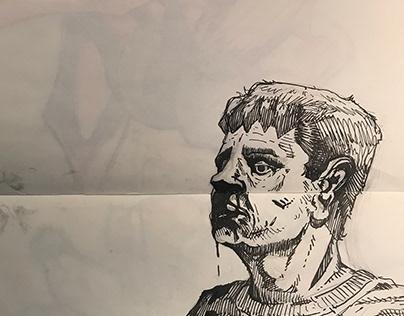 Sketch to dip pen