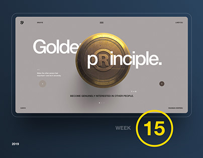 Si™ Daily Ui Design | Week 015 Inspirations