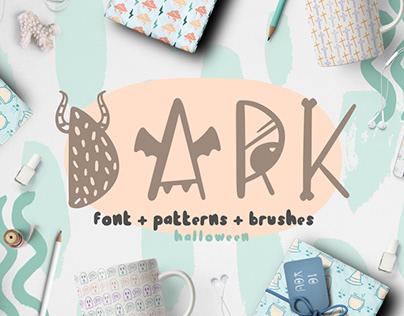 Dark font - halloween bundle