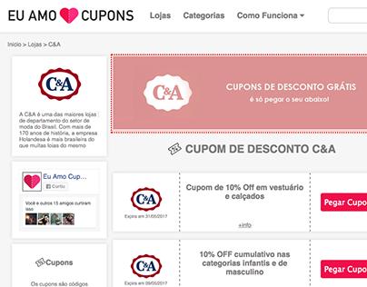 Página de cupom C&A (Exemplo)