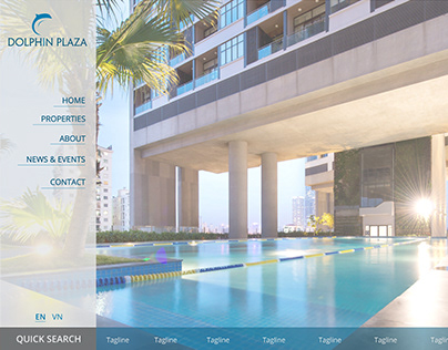 Real Estate Web Mockup