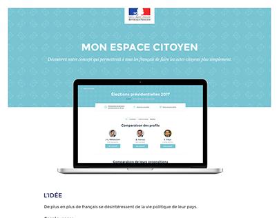 Mon espace citoyen - My citizen space
