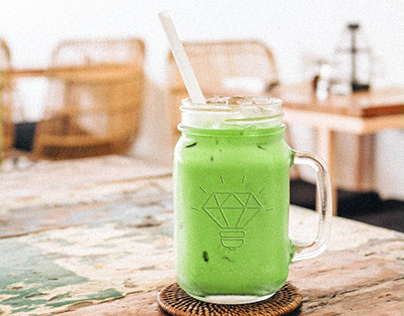 Free customizable drink mockup
