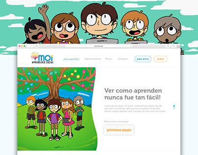 Education Web App Moi Social Learning - UI Design