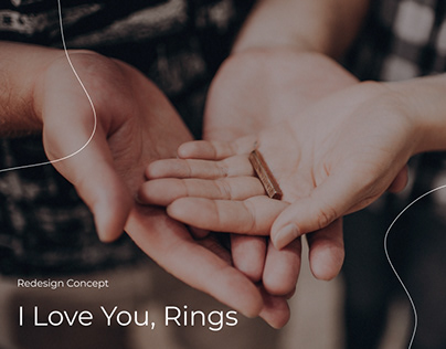 Redesign for I Love You, Rings - landing page