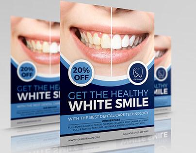 Dental Clinic Flyer Template Vol.3