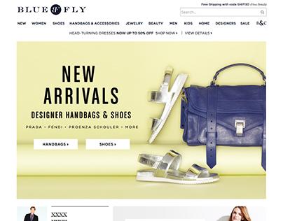 Bluefly.com Homepages 2014-2015