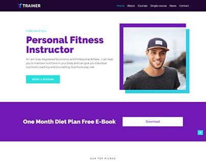 Fitness instructor, Trainer, Coaching WordPress website