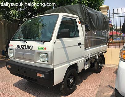 Xe tải Suzuki 5 tạ Hải Phòng thùng mui bạt