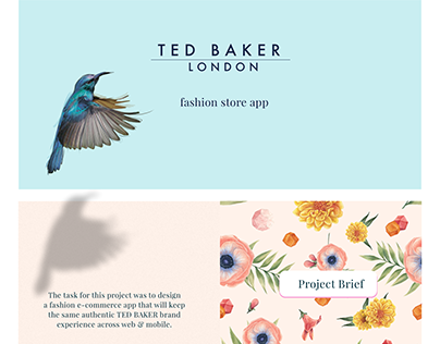 TED BAKER fashion store concept app