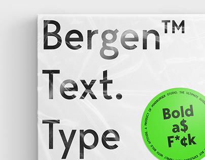 Bergen™Text Type Specimen