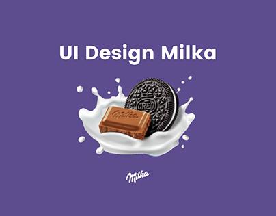 Milka UI UX Design Chocolate