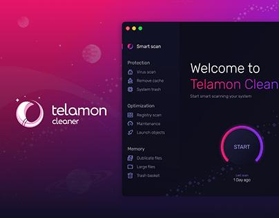 Telamon Cleaner – UX/UI Design of Desktop Cleaner App
