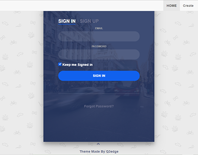 Login Screens UI layout Templates