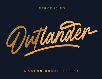 Outlander Brush Script by Megi Satyo Widodo