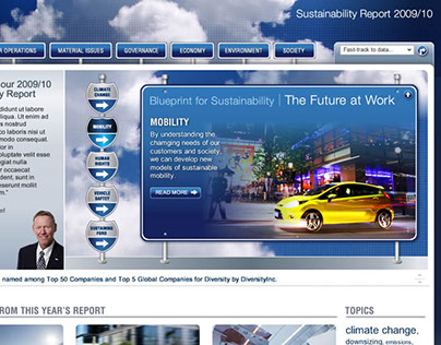 Ford Sustainability report website