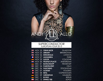 Andy Allo - EU Tour Flyer