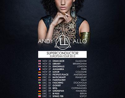 Andy Allo - EU Tour Flyer