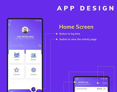 Time Log App UI
