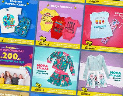 Zumm Kids Store | Social Media Loja Infantil