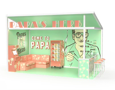 Papa's Herb Trade Show Booth