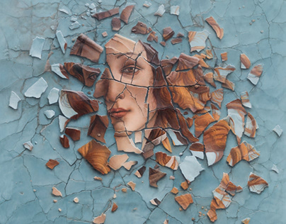 """""""Shattered Venus"""", oil on panel, 17 x 15 in."""