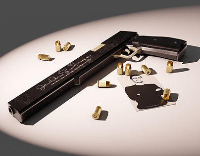 """Alucard's weapon, """"The Jackal"""" (Hellsing). 3D model"""