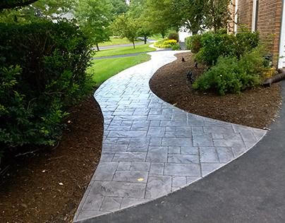 Imprinted Concrete Driveway   CustomCrete.ie