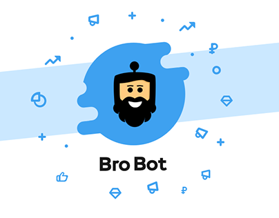 Bro Bot for social networks (brandbook, ui/ux design)