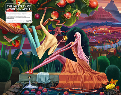 Illustration / The Mystery of a Golden Apple