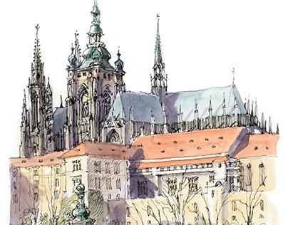 Praga. Guías a pie.