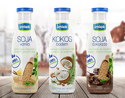 IMLEK - 100% Organic Milk / Packaging Design