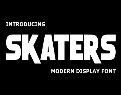 SKATERS - FREE FONT