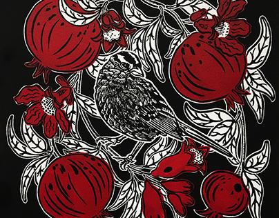 Sparrow & Pomegranates