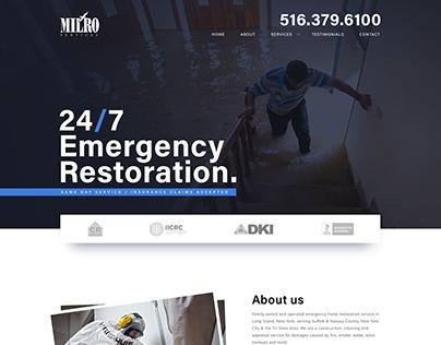 Emergency Restoration site