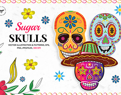 Sugar Skulls Graphics