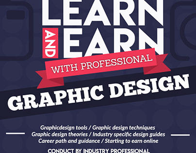 Learn and Earn with professional graphic design