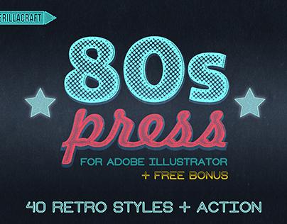 80's Press - Illustrator Freebie