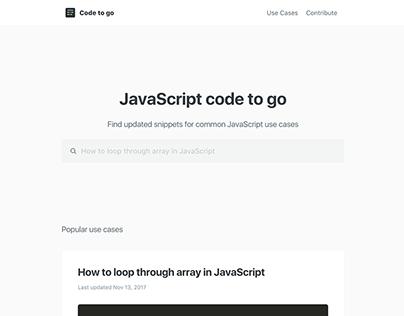 Code To Go | Branding & Website