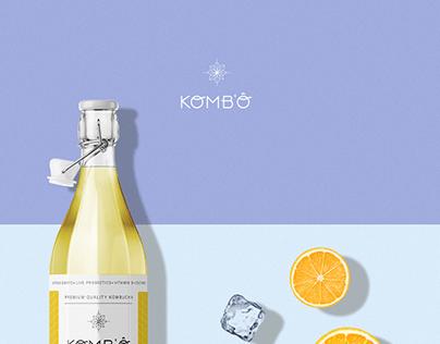 KOMB'Ô Kombucha Drink Branding Identity