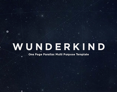 Wunderkind - Parallax One Page Template