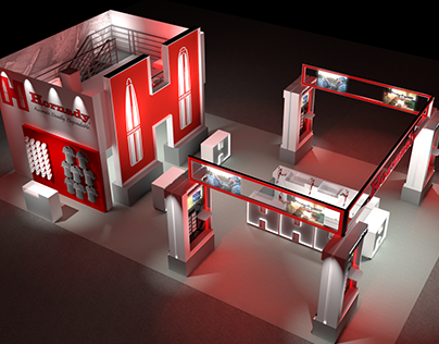 Tradeshow Booth Rendering Concept