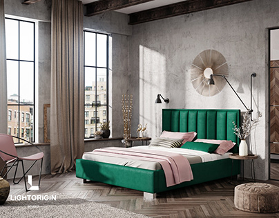 CGI - Bedroom design by LIGHT ORIGIN