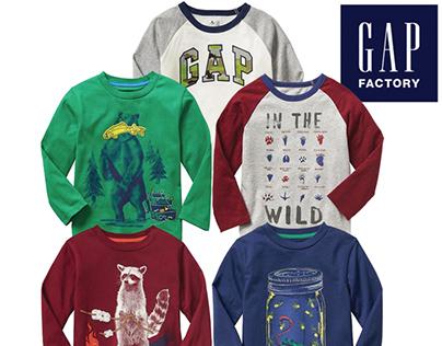 Gap Factory Fall 17 Toddler Boys Graphic Tee Shirts