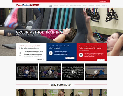Pure Motion Fitness Training ~ Webfolio