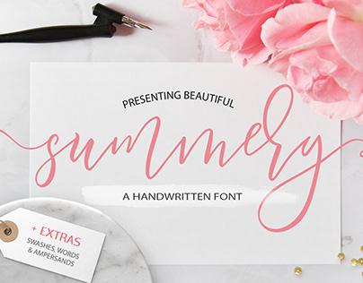 Summery Calligraphy Script Font